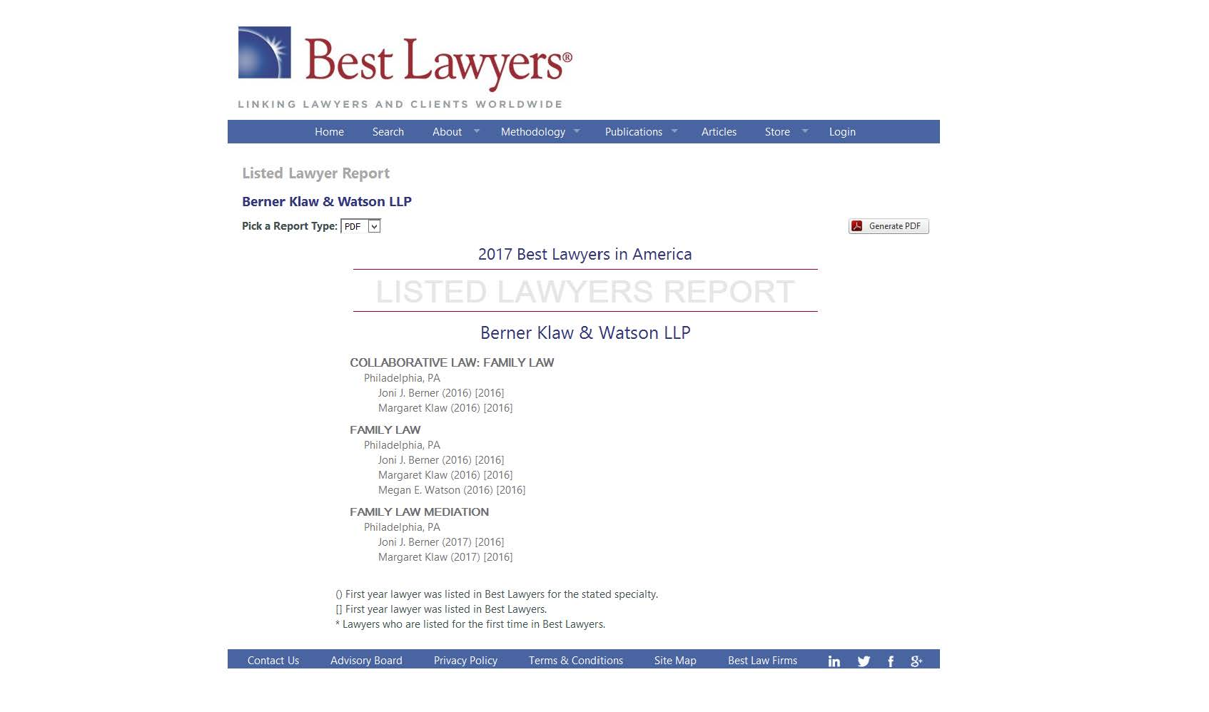 best lawyers 2017 listing