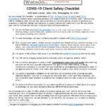 COVID-19 Safety Checklist